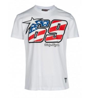 Nicky Hayden tričko 69 WHITE